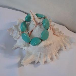 Aqua stretch bracelet